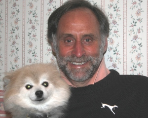 Dr Marty Goldstein with his Pomeranian, Kooper.