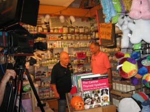 Phil Klein and Dr. Martin Goldstein on set June 22nd, 2012