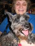 Susan Bengston with her mini Schnauzer, Iris